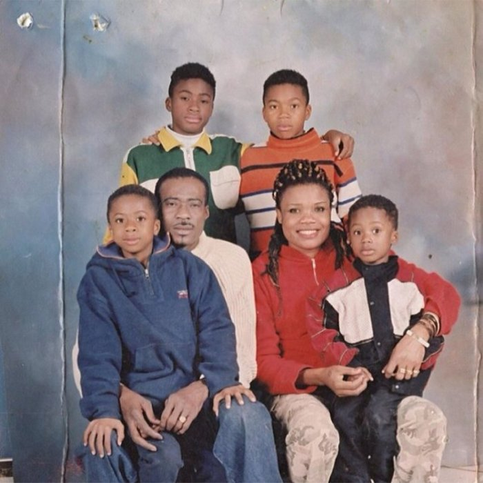 The Antetokounmpo clan, pictured exactly as you'd hope in a family portrait.